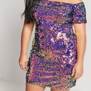NWT Forever 21 Sequined Off-Shoulder Bodycon Dress
